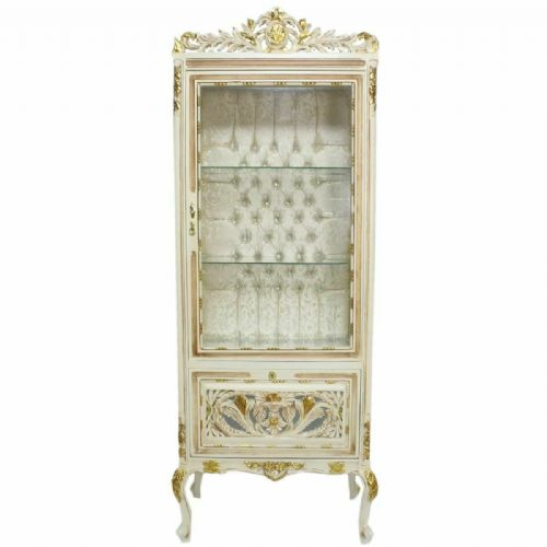 CASE BAROQUE STYLE CREAM GOLD GLASS CASE #MB350